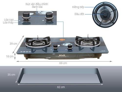 Bếp gas âm Kiwa – sự lựa chọn tuyệt vời cho gia đình bạn
