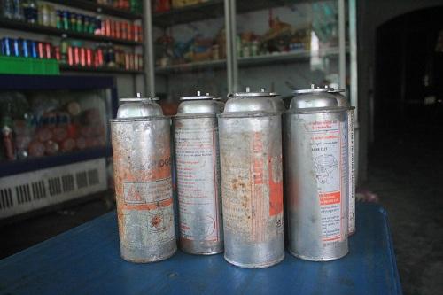 Sử dụng bình gas mini cũ tiềm ẩn nhiều nguy hiểm